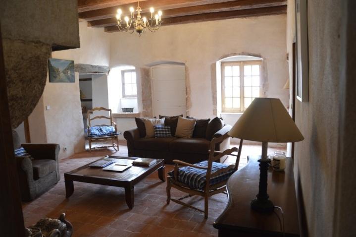 Petit salon du gîte de Fougères-en-Beaujolais
